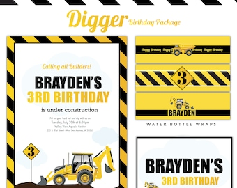 Digger Birthday Party Package