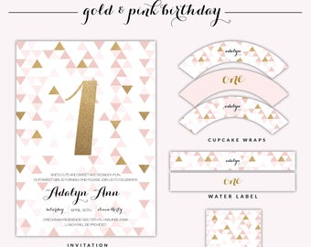 Gold and Pink Birthday Package