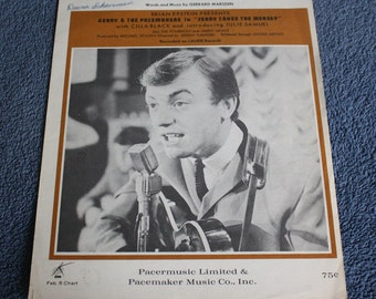 Ferry Cross the Mersey Gerry Marsden Playing Guitar Gerry and the Pacemakers 11x