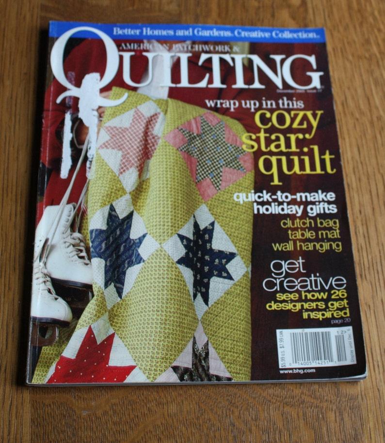 American Patchwork /& Quilting Magazine December 2005 Issue 77