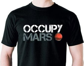 Occupy Mars Hoodie Elon Musk SpaceX Tesla Universe Tee Joe Rogan Red Planet 4482