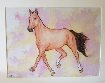 watercolour painting - Millie the Mare