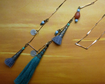 Long tassels and mother of Pearl