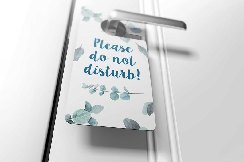 photograph about Do Not Disturb Sign Printable called Printable Do not disturb doorway hanger signal, Printable welcome doorway hanger indication (2 within 1!) for Airbnb Doorway Hangers