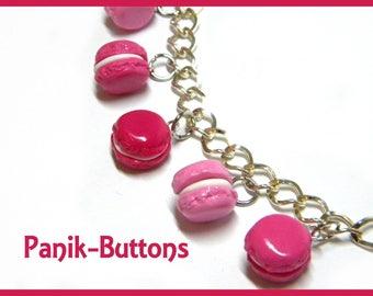 Pink macaroon bracelet