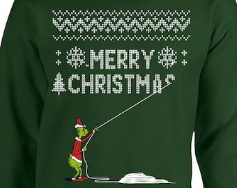 Grinch light up holiday Christmas sweatshirt crew junior/woman's sizes Christmas Clothing, Shoes & Accessories Women's Clothing