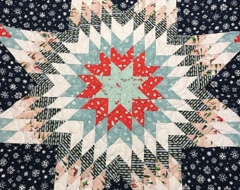 New Christmas Native American Star Quilt 57in X 56 1 2in Etsy