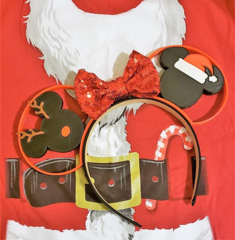 85a7687d4adc8 Disney Christmas Holiday MVMCP Santa Reindeer Rudolph 3D