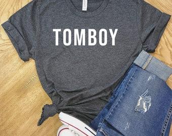 8fd24a99c193 Tomboy Shirt, Super Soft Bella Canvas Unisex Short Sleeve T-Shirt, Womens  Shirts, Men Shirt, Sale