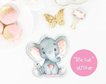 Doodle Sticker Elephant, Die Cut Sticker, Planner Stickers Kawaii, Hand cut Sticker, Deco stickers animal, Erin Condren, Happy Planner