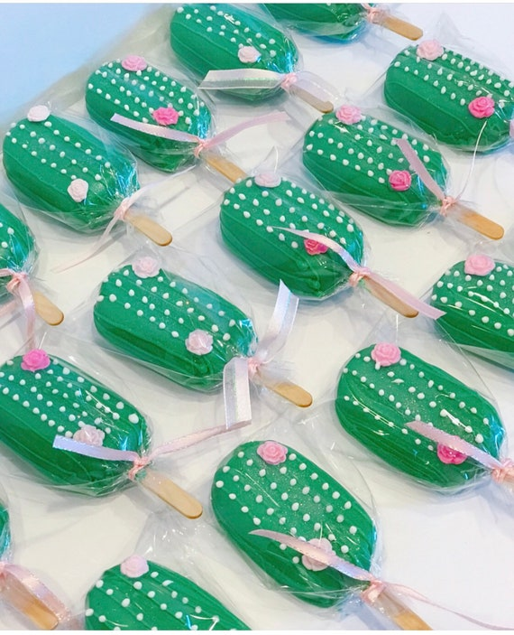 Christmas Themed Cakesicles.Cactus Cakesicles