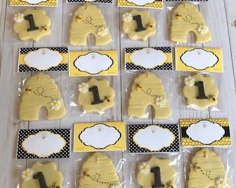 Bumble Bee Themed Sugar Cookies