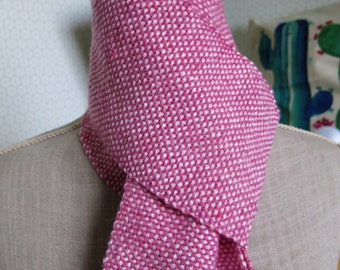 Old hand woven pink scarf