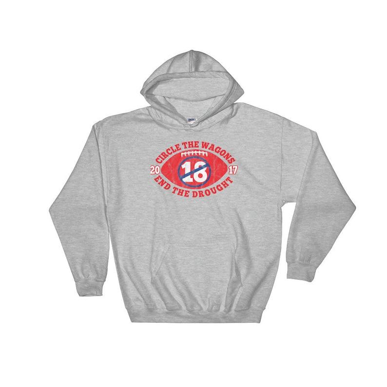 We Love Buffalo Bills Football Hoodie Circle the Wagons  e63ffa531