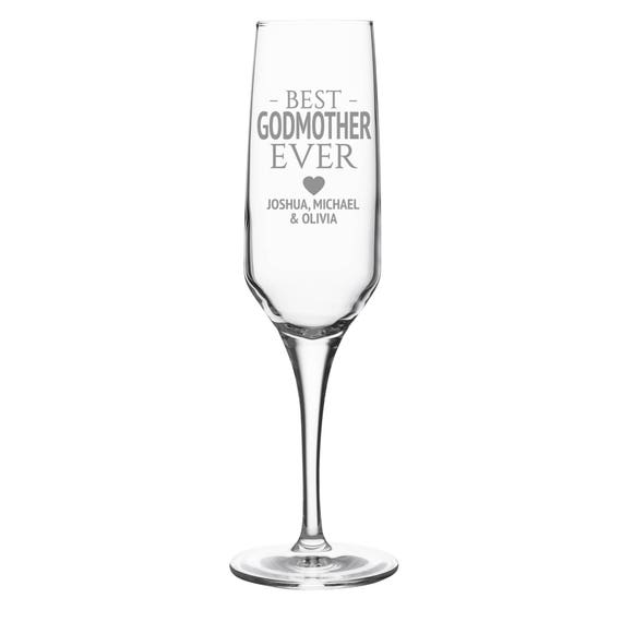 Personalised Engraved 8oz Crystal Wine Glass 40th 50th 60th Birthday Gift