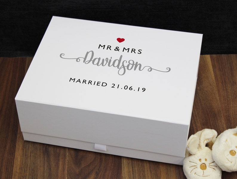 Personalised Wedding Gift Box Wedding Keepsake Box Card Box Memory Box Custom Box Personalized Box Lmb28 Wm4