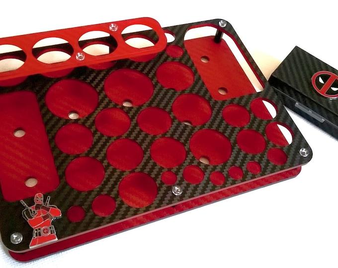 Deadpool Design Vape Stand - Valentines Gift - Vape Organizer + FREE Battery Case