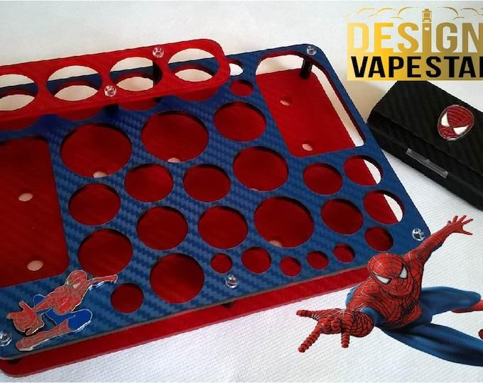 Spiderman Design Vape Stands - E Cig Holder - Vape Organizer + FREE Battery Case