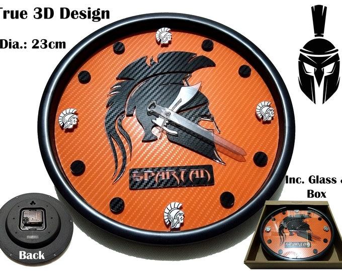 3D Designer Spartan Wall Clocks