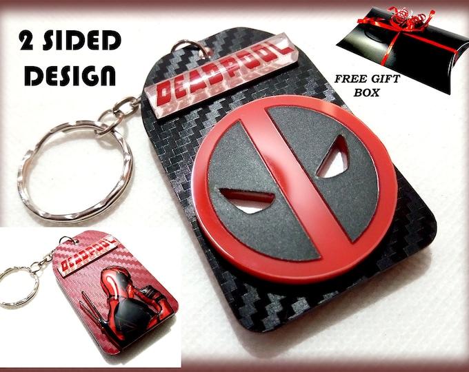 Deadpool 3D Keyrings – 3D Bag Charms – Great Designer Gifts - Key Charms