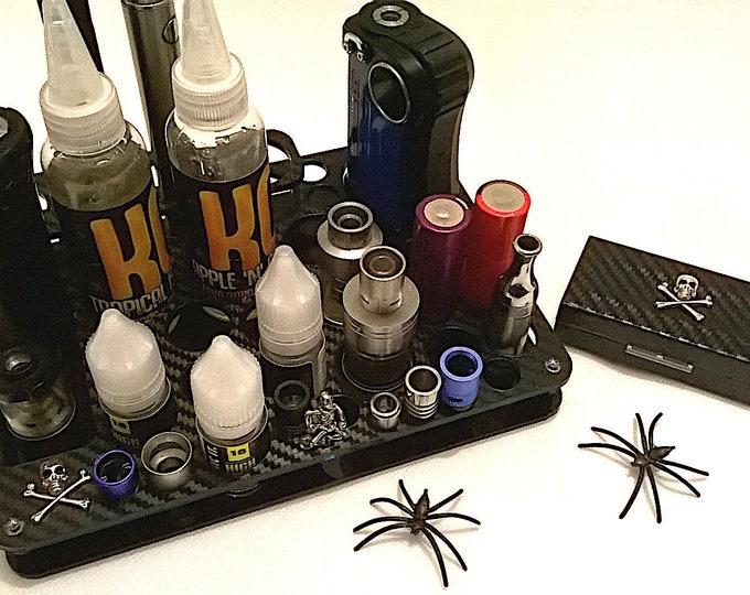 Gothic Design Vape Stand - Electronic Cigarette Holder - Vape Organizer + FREE Battery Case