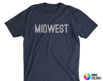Made in the Midwest T-Shirt - Premium Fitted Next Level CVC Crew Blend