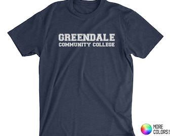 Greendale Community College T-Shirt (inspired by Community) - Premium Fitted Next Level CVC Crew Blend