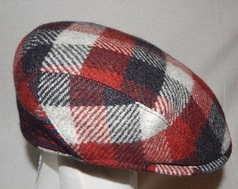 Borsalino eccellente rara Vintage UNISEX controllato lana berretto piatto  cappelli 80443165a147