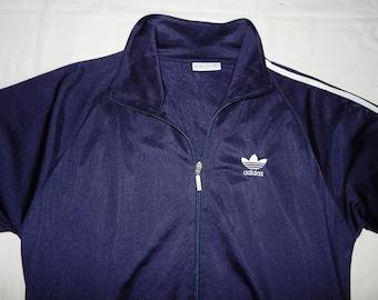 on sale 72f30 11332 Adidas Trefoils Vintage 90s Exc. Men s Tracksuit Top Jacket, D7 ,GB 42,  192cm Adults, Blue   White