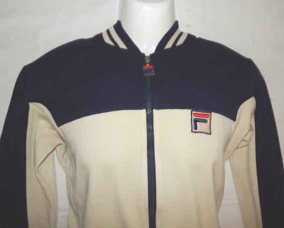 Vintage 80s FILA BJ Bjorn Borg Settanta Tennis Track Jacket + Pants Tracksuit 40