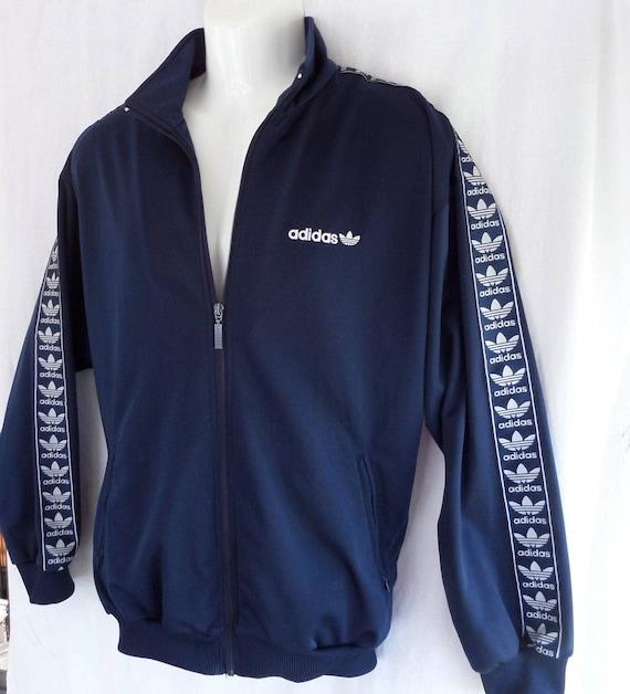 90er Jahre Adidas Trainingsanzug Weiß 4244186 V90er JackeXlGb ErwachseneBlau Vtg wPk08nO