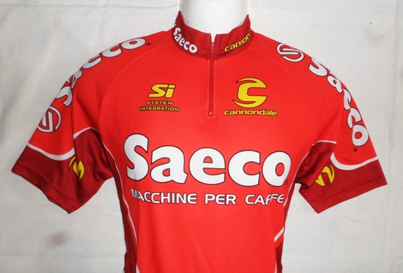 60665bfa0 Saeco Team 2001s Short Sleeve Cycling JerseyAdults Size L