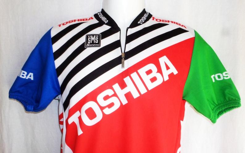 Toshiba Team 1990 91 Rominger Paris-Nice Cycling Jersey L  cbb3a48c8