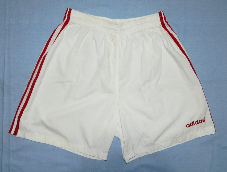 c91ec1674b Adidas Vintage Excellent Men's Football Shorts Retro 1990/2000s, Size  L,D7,GB36,USA-L,White/Red