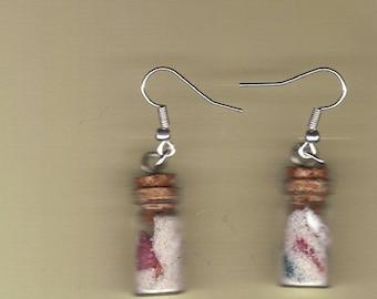 sea shell bottled earrings