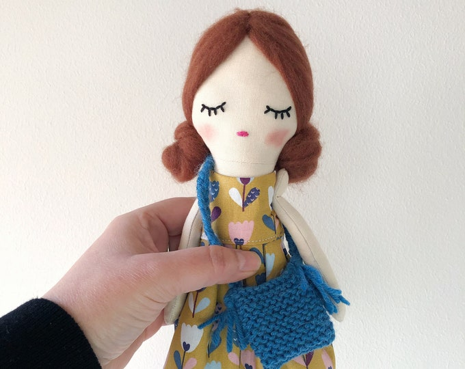 Pop print fabric doll.