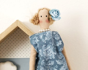 Tilda fabric doll, Celia rag doll.