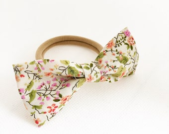 Hair rubber ties for girls, medium bow for hair