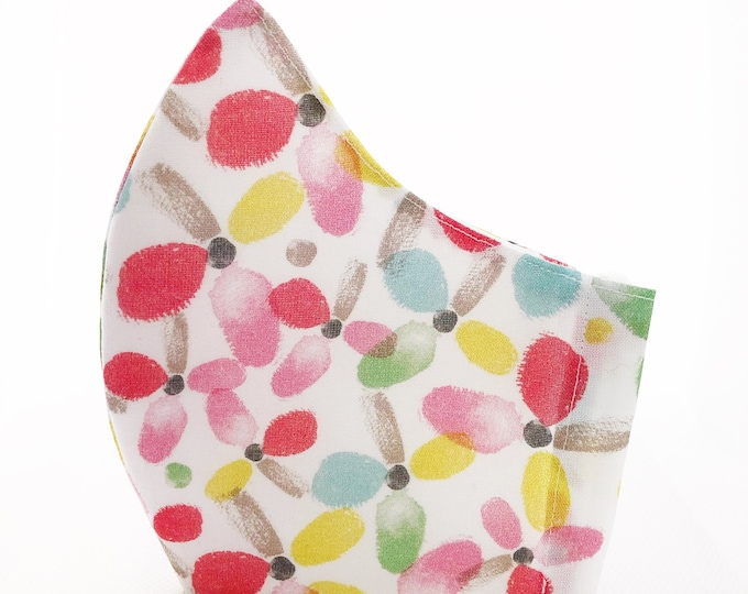 100% cotton mask with filter pocket, mask with summer colors