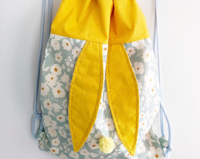 Rabbit, blue and yellow children's backpack