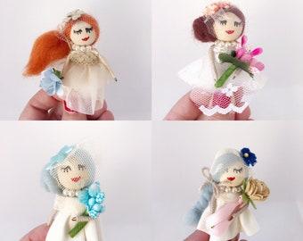 Dolls brooch for brides