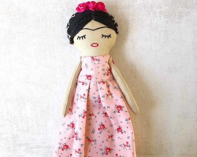 Frida fabric doll