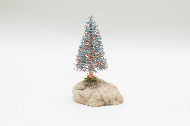 Wire Christmas Tree.Christmas Tree Bonsai Tree Blue Christmas Tree Tree Bonsai Christmas Tree Made Of Wire Christmas Gift Thanksgiving Day Gift
