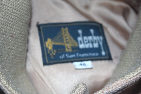 Vintage Derby of San Francisco Mens Tweed Bomber … - image 6