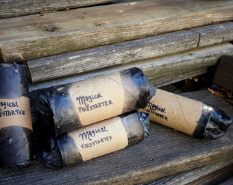 Upcycled Magical Bonfire Fire Starters (five pack)    Eco Friendly Camping Supplies    Eco Friendly Fire Pit Supplies    Reuse Recycle