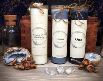Remembrance Candle   7 Day Prayer Candle   Mourning Grief   Customizable Memorial Healing Herb Soy Gemstone Spell   Witchcraft Supplies