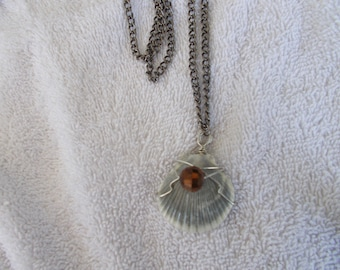 Clearwater Beach Scallop Shell Necklace