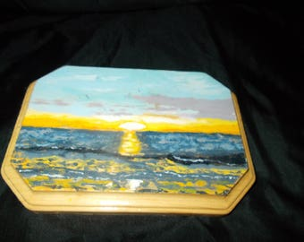 Handpainted Clearwater Beach Sunset