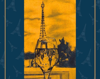 Eiffel Tower - Paris Art Print. Bedroom decor. Bathroom Decor. Home Decor. French inspired art. Eiffel Tower Poster.