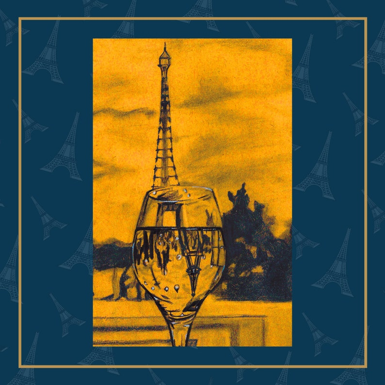 Eiffel Tower  Paris Art Print. Bedroom decor. Bathroom Decor. image 0